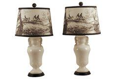 Ceramic Urn Lamps