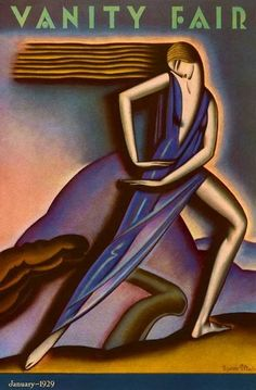 1929 Vanity Fair cover illustration by Symeon Shimin.
