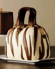 Zebra cake purse