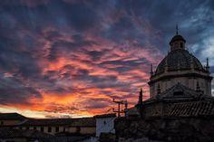 Spanish sunset in Granada ~ Spain