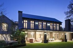 Like the roof and height of the floor windows and doors vis-a-vis the roof. Roof Window, Aluminium Doors, Elegant Homes, Windows And Doors, Exterior Design, Beautiful Homes, Building A House, New Homes, Farmhouse