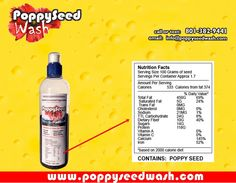 Poppy Seed Wash is a medicinal beverage, generically known as poppy seed tea. Each bottle contains 6 ounces of special, unwashed, unprocessed, organic poppy seeds sourced specifically for high medicinal strength and great taste.  Preparation 1. Measure your dose using the guide on the side of the bottle. (2-3 ounces for new users) 2. Add hot water. 3. Shake for one minute 4. Hold upside down over a cup, open cap and squeeze the tea out (The cap strains the seeds) 5. Enjoy.