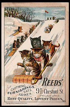 Vintage trade card -  Reeds' Clothiers, Philadelphia