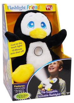 Flashlight Friends - The Huggable Loveable Child's Flash Light Penguin Idea Village,http://www.amazon.com/dp/B00D97QN6Q/ref=cm_sw_r_pi_dp_.d.Nsb1K4DXWV587