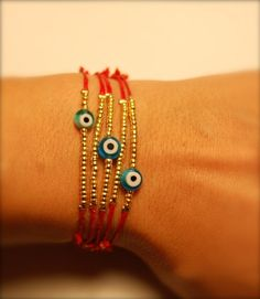 HOLIDAY SALE NazSoChic Trendy Multi RedString Or BlackString Evil Eye Protection…