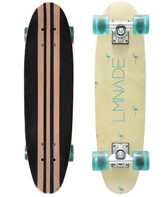 """Never send a man to do a woman's job. LMNADE's series of cruiser decks are exclusively styled and designed for female riders. ATLANTIC Series – 26"""" x 7"""" The Atlantic series' low concave contemporary s"""