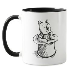 Winnie the Pooh Think Think Think Mug - Christopher Robin - Customizable