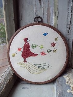 Autumn embroidery by Soft As Chalk, via Flickr