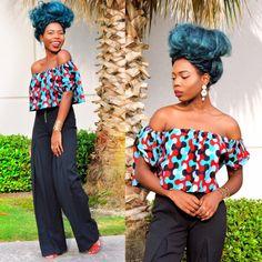 Top court Ankara   africain haut imprimé, africain, vêtements africain, la boutique africaine, jupe ankara, Ankara Crop top, Top africain