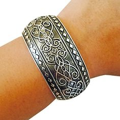 Activity Tracker Bracelet for Fitbit Charge, Charge HR and Other Fitness Trackers - The JORDANA Silver Engraved Bangle Bracelet (Silver, Fitbit Flex) FUNKtional Wearables http://www.amazon.com/dp/B0163L5HNE/ref=cm_sw_r_pi_dp_rViswb1FNJCEP