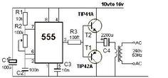 How To Make 12v DC to 220v AC Converter/Inverter Circuit