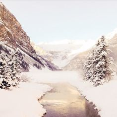 Lake Louise in winter (travelalberta's photo on Instagram)