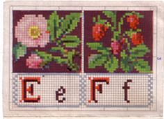 Rouyer: E is for eglantine rose F is for strawberries (fraises)