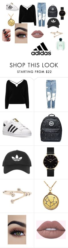 """Adidas"" by anitacookiemonster129-1234 on Polyvore featuring River Island, Topshop, adidas and CLUSE"