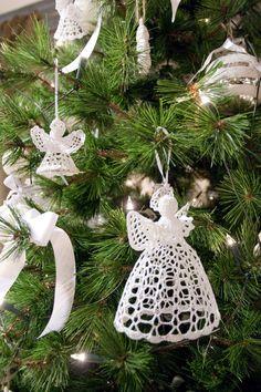 De gehaakte kerstengelen van Rivièra Maison.