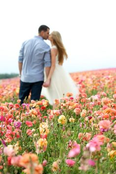 Photo together in a field of flowers ... Jamie B Photography