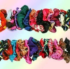 It's crazy how much I remember of these 80's things! Using scrunchies as your favorite statement piece, and owning one in every color and print in existence. | 53 Things Only '80s Girls Can Understand