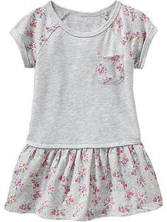 Floral-Print Jersey Dresses for Baby