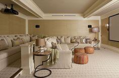 Bridgehampton home theatre in a home by architect Anik Pearson :: <3this decor
