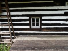 Log house in Kudowa. Open air museum in Sudetes/ Sudety (Polska).