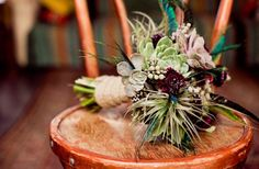 Naughty   Nice Succulent Bridal Bouquets