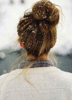 Ideal for snowy and cold weather, this stunning bun will keep your Great Lengths hair extensions in check #newyearhair