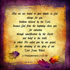 God, in His sovereignty, chooses those whom He will save...the elect are known to Him from before the foundation of the world.  We are chosen...IN CHRIST!  Ephesians 1:1-6...PRAISE THE GLORY OF HIS GRACE!