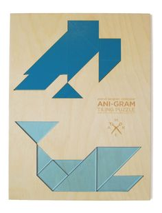 vulture  whale tangram puzzle by MakeATX on Etsy