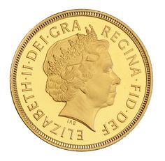 1998 Royal Mint Sovereign - portrait by Ian Rank-Broadley
