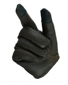 Black Mens Lightweight Heavy Duty Thick Leather Fingerless Riding Gloves
