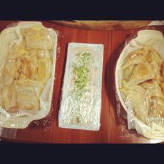 Chilean fiesta!! Meat empanadas, cheese empanadas, salmon belly Chilean style entree(homemade salsa)