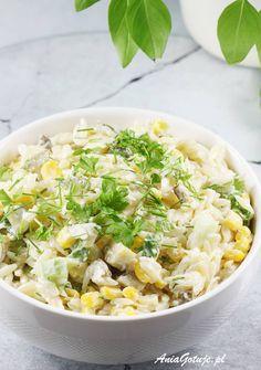 Sałatka z makaronem ryżowym, 6 Orzo, Grilling, Salads, Ethnic Recipes, Food, Kitchens, Crickets, Essen, Meals