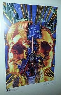 STAR WARS CELEBRATION 6 VI ALEX ROSS ART PRINT POSTER SHADOW OF YAVIN @ www,plasticempire.com