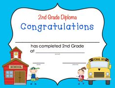 Diplomas to recognize students from Pre-K to 2nd grade $