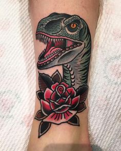 Velociraptor for Cobys first tattoo @thegrandillusiontattoo