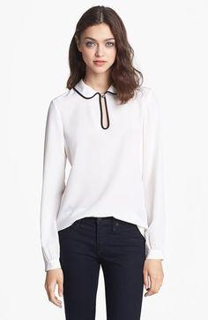 kate spade new york silk trilby blouse | Nordstrom