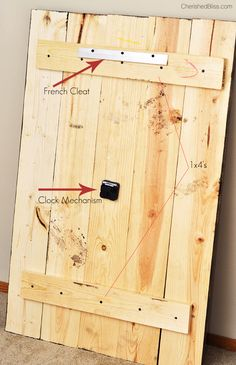 Rustic Wooden Clock Tutorial
