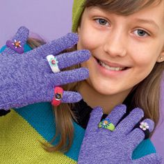 """Use un matched gloves to make decorative """"rings"""""""