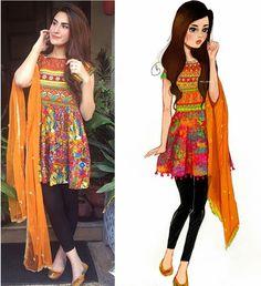 Pakistani Fashion Casual, Pakistani Dresses Casual, Ethnic Fashion, Indian Dresses, Indian Outfits, Indian Fashion, Casual Dresses, Shadi Dresses, Pakistani Clothing