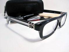 5e2ed5e23a1 Valuable Chrome Hearts T Nuc Black Eyeglasses New