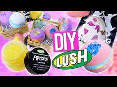 Lush bath bombs DIY y crema labial mantequilla