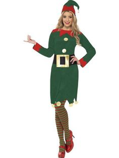 Ladies Elf fancy dress costume