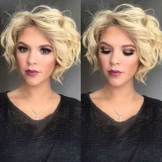 38 Super Cute Ways to Curl Your Bob – PoPular Haircuts for Women 2019 Blonde Bob Hairstyle with Curls – Short Haircuts for Heart Face Shape – Farbige Haare Stacked Hairstyles, Blonde Bob Hairstyles, Hairstyles Haircuts, Bob Haircuts, Bob Wedding Hairstyles, Trendy Hairstyles, Hairstyles Pictures, Beautiful Hairstyles, Medium Hairstyles