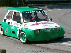 Fiat 126 by Italian Slalom Racing Sports Car Racing, Race Cars, Fiat 126, Fiat Cars, Small Cars, Car Manufacturers, Cars And Motorcycles, Vintage Cars, Cool Cars