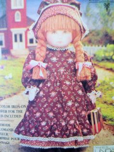 Vintage Vogue 8336 Sewing Pattern, Early American Doll, Doll Pattern, Linda Carr, Old Fashioned Doll, 1990s Craft Pattern, 18 Inch Doll