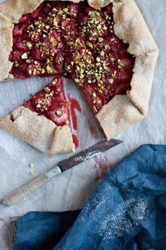 Strawberry and Pistachio Galette - http://www.littleupsidedowncake.com/category/summer/page/3/