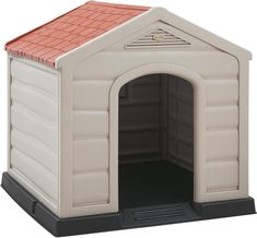 (This is an affiliate pin) Rimax 9995 Outdoor Dog House, One Size Modern Dog Houses, Dog Dental Care, Dog Care, Dog Shower, Terracota, Dog Shedding, Dog Diapers, Dog Travel, Dog Memorial