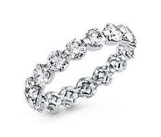 Floating Diamond Eternity Ring in Platinum (over 3 ct. tw.) #BlueNile