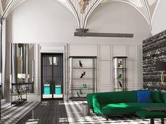 INTERIOR DESIGN PROJECTS  Aquazzura Flagship Store in Florence designed Casa do Passadiço  http://bocadolobo.com/ #interiordesignprojects #moderninterior