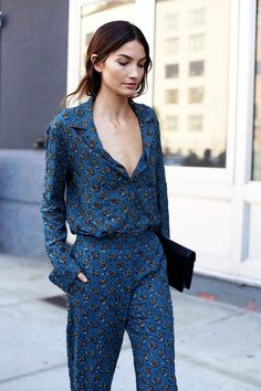 Model-Off-Duty: Get Lily Aldridge's Elevated Jumpsuit Look